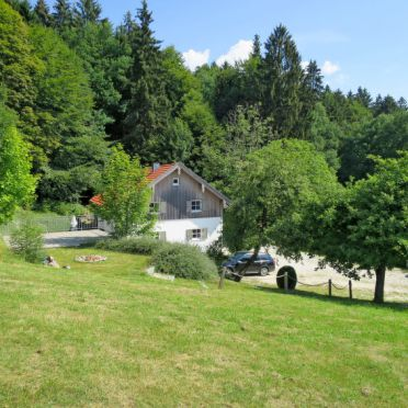 Außen Sommer 1 - Hauptbild, Chalet Gulde, Lallinger Winkel, Bayerischer Wald, Bayern, Deutschland