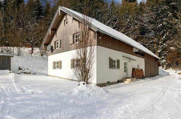 Außen Winter 25 - Hauptbild, Chalet Gulde, Lallinger Winkel, Bayerischer Wald, Bayern, Deutschland