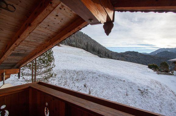 Ausblick vom Balkon, Chalet Luxeck, Steinberg am Rofan, Tirol, Österreich