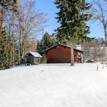 Außen Winter 34, Hütte Rustika am Wörthersee, Klagenfurt am Wörthersee, Kärnten, Kärnten, Österreich