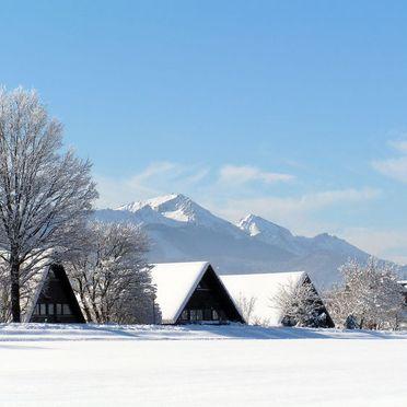 Außen Winter 32, Hütte Oslo in Bayern, Siegsdorf, Oberbayern, Bayern, Deutschland