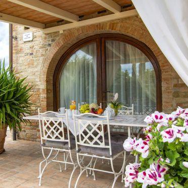 Außen Sommer 4, Casa la Vecchia Pieve, Castelfiorentino, Toskana Chianti, Toskana, Italien