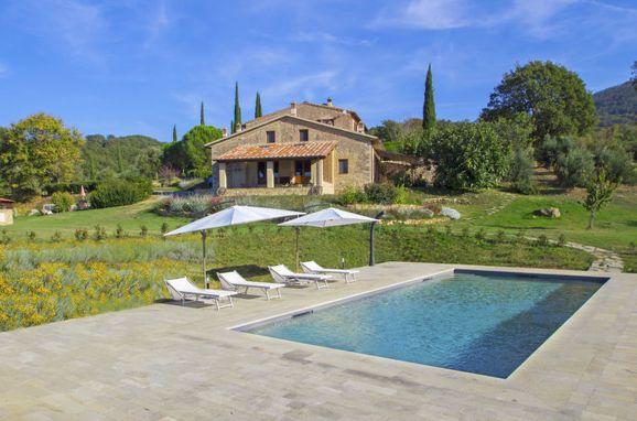 Außen Sommer 1 - Hauptbild, Casa Podere Capraia, Cinigiano, Maremma, Toskana, Italien