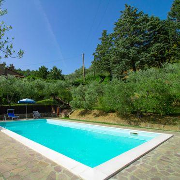 Außen Sommer 4, Villa il Riccio, Cortona, Arezzo, Cortona und Umgebung, Toskana, Italien