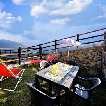 Außen Sommer 3, Rustico le Baite di Bodone, Gravedona, Comer See, Lombardei, Italien